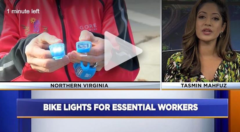 TV News Reports on DATA/RBC Bike Lights Project